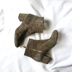 Michael Kors ankle boots green suede leather 7.5